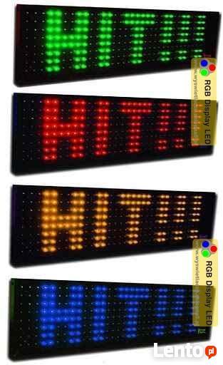 Wyświetlacz led, reklama led, tablica led 25x100cm - TANIO