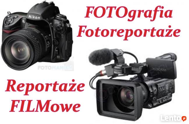 Studio fotografii i reportażu filmowego oferuje następujące