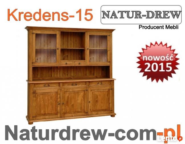 Duży drewniany Kredens 15 ,Meble z Drewna od PRODUCENTA Wro