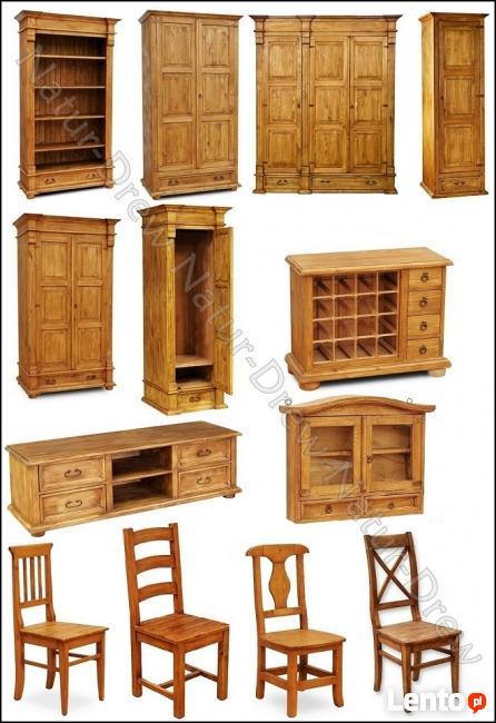 Witryna nr 6 z Drewna Litego od PRODUCENTA MEBLI - Zapraszam