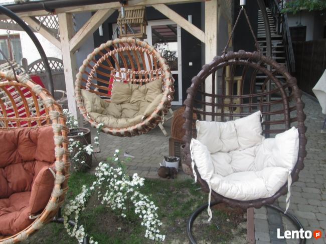 Fotel bujany wiklinowy wiszący PRODUCENT