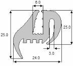 Uszczelka szyby TS3 Ursus, MF, ZETOR, Case, JD, NH, MTZ