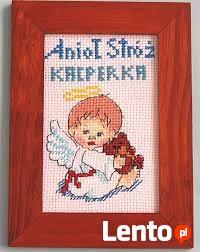 Aniolki Stróże dla Bobasków -haft ręczny