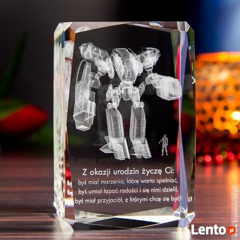 Kryształ 3D z motywem Mech 3D - DEDYKACJA GRATIS!