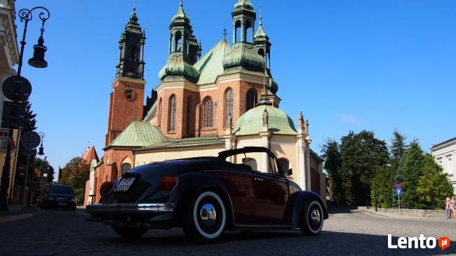 Auto do ślubu Volkswagen Garbus Cabrio do wynajęcia Ostrów