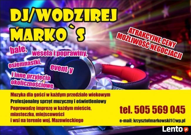 DJ Marko`S usługi dj(sko)-wodzirejskie
