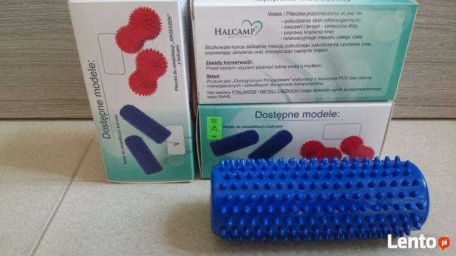 Wałek do rehabilitacji/masażu z kolcami Φ 5 x 16 cm (niebies