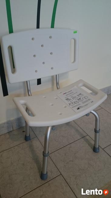 Krzesło prysznicowe z oparciem aluminiowe białe AR-203 ARmed