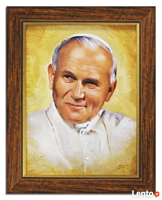 obraz olejny religijny papież św. Jan Paweł II