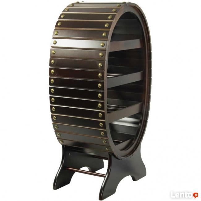 nowy stylizowany stojak na wino w kształcie beczki