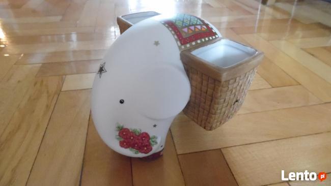 słoń-Goebel Linda Edwards Elephants Lotus Flower Vase
