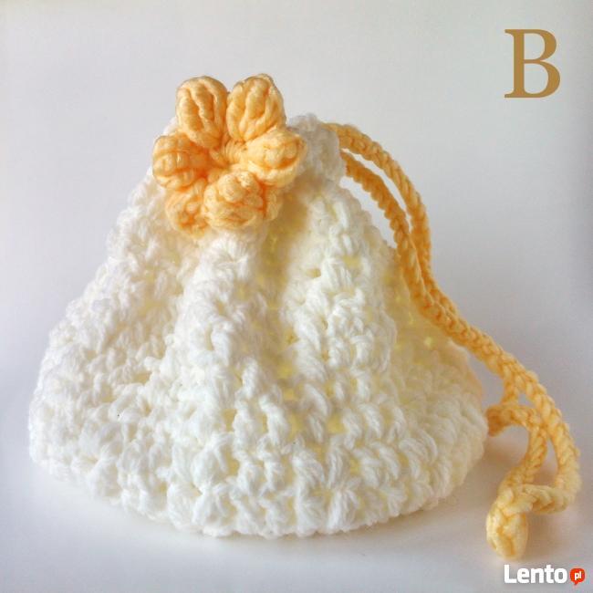Torebka komunijna wełniana- handmade