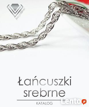 Łańcuszki srebrne pancerka ankierka galibardi, singapur itd.