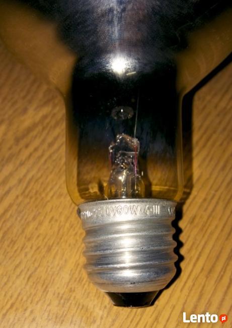 Żarówka 60W żółta 220-230V typu grzybek śr.8cm R80