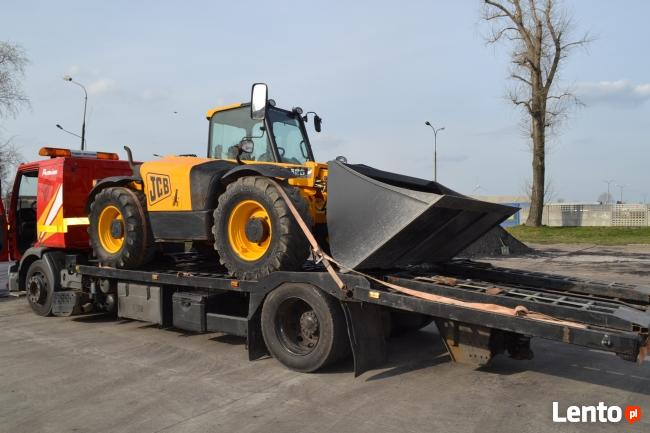 Transport maszyn budowlanych, rolniczych.