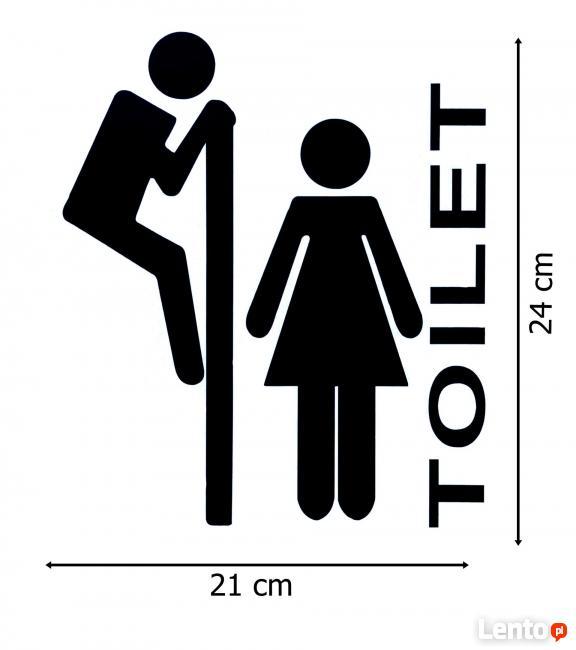 Archiwalne Naklejki na drzwi toalety łazienki WC WS-0182 Łódź