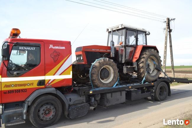 Transport maszyn budowlanych, rolniczych, aut cię