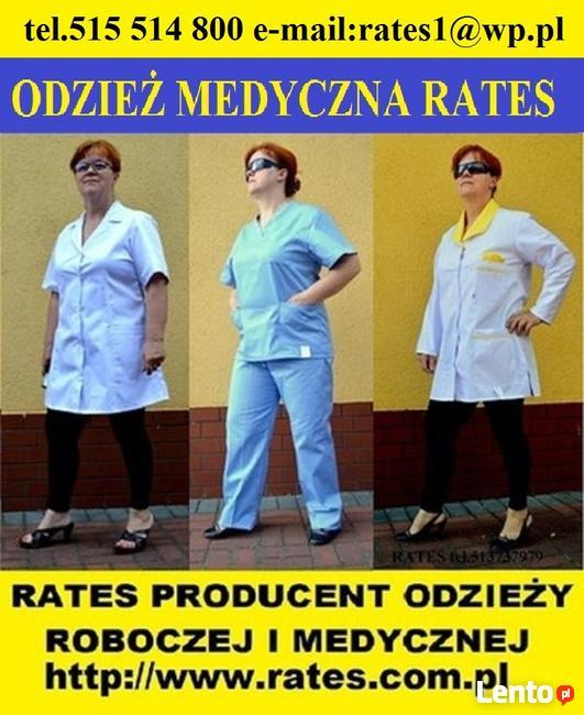 Odzież Medyczna i Robocza Firmy RATES zaopatrzenie Mielec