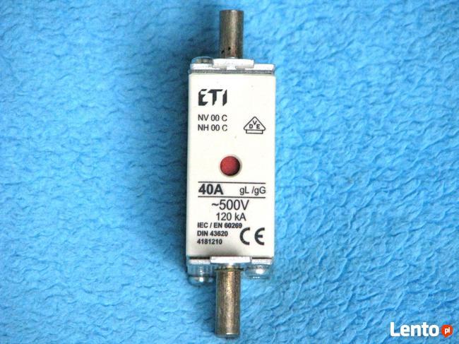 Bezpiecznik ETI 40A gL/gG 500V 120kA BM bezpiecznik mocy