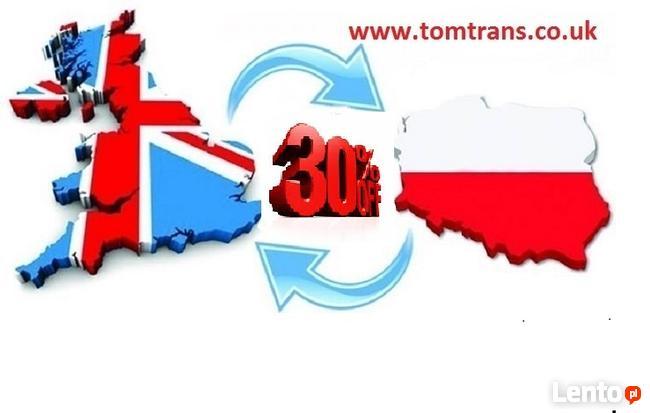 TRANSPORT- PRZEPROWADZKI DO / Z POLSKI