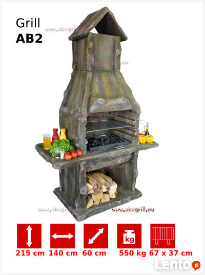 Grill ogrodowy betonowy AB2