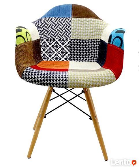 Fotel krzesło Patchwork DAW RETRO do Salonu Jadalni NOWE