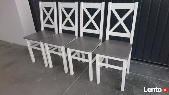 Krzesło prowansalskie twarde białe/siwe Producent nowe