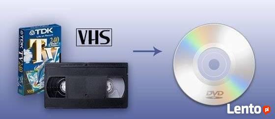 Przegrywanie kopiowanie kaset wideo VHS na DVD lub USB