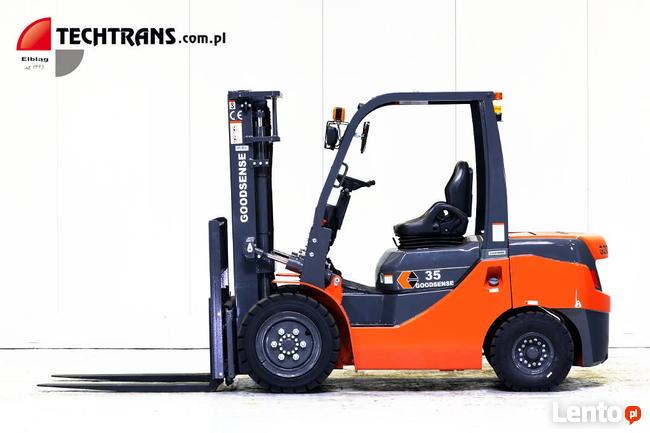 Wózek widłowy 3500kg NOWY #GOODSENSE z Techtrans, FY35.
