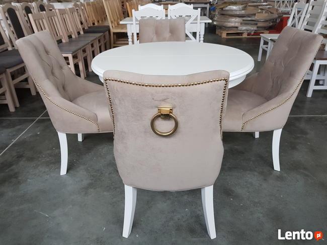 Krzesło pikowane z kołatką i pinezkami Producent glamour