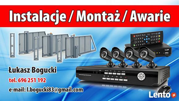 Alarm, Monitoring, Domofony, telewizja  serwis-montaż