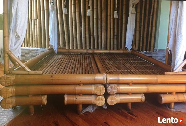 Archiwalne Bambusowe łóżko Z Baldachimem Sprzedam Nałęczów