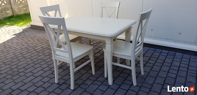 Zestaw prowansalski WANILIA-stół 120x80+4 krzesła Krzyż nowy