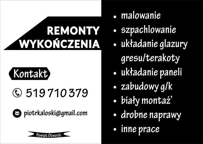 Remonty w Otwocku, malowanie, glazura, glazurnik, układanie