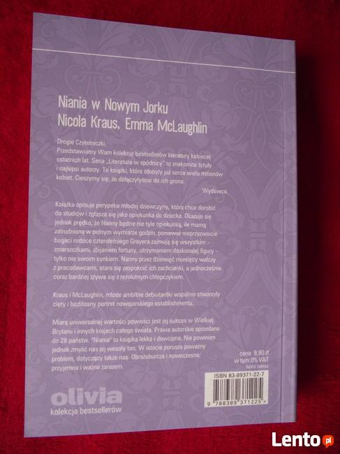 Niania w Nowym Jorku - Nicola Kraus Emma McLaughlin