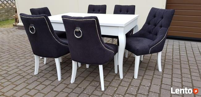 krzesło chesterfield glamour pikowane nowe z kołatką mocne