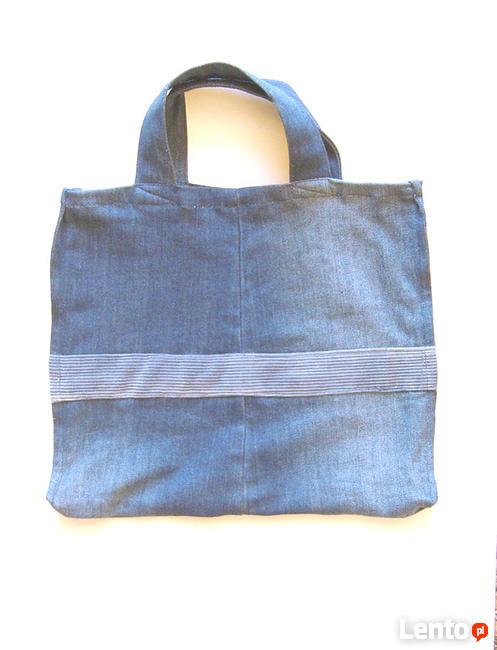 dżinsowa torba na zakupy, eko torba dżinsowa, mocna torba