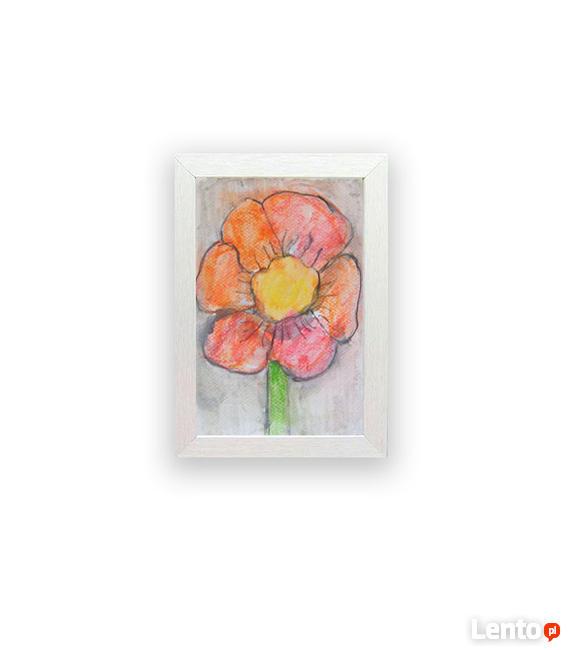mały obraz kwiat, pomarańczowy kwiat obrazek