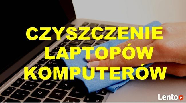 Czyszczenie laptopów / komputerów FAKTURA VAT
