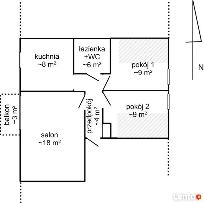 M-3, nowe budownictwo, bezczynszowe, Sławin, 295000