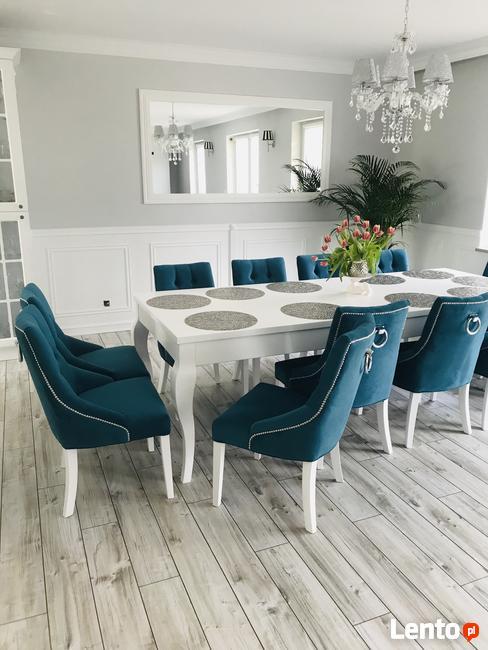 Krzesło z kołatką chesterfield pikowane z pinezkami tapicero