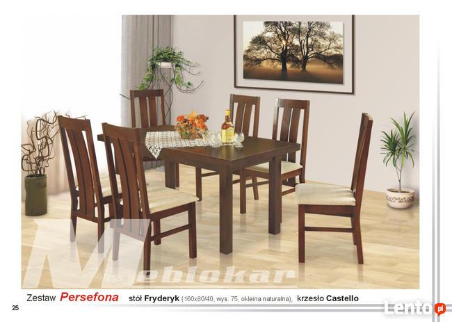 Stół FRYDERYK i 6 Krzeseł CASTELLO | Furnideco