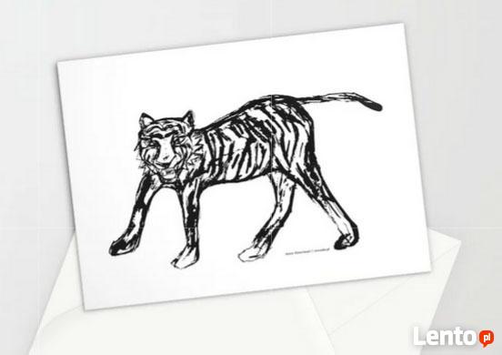 koty kartki, kartki z kotkiem, kot kartka, miętowa kartka ko