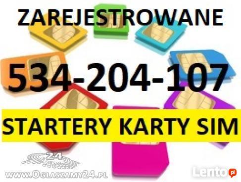 KARTY SIM ZAREJESTROWANE KARTA SIM STARTERY REJESTRACJA KART