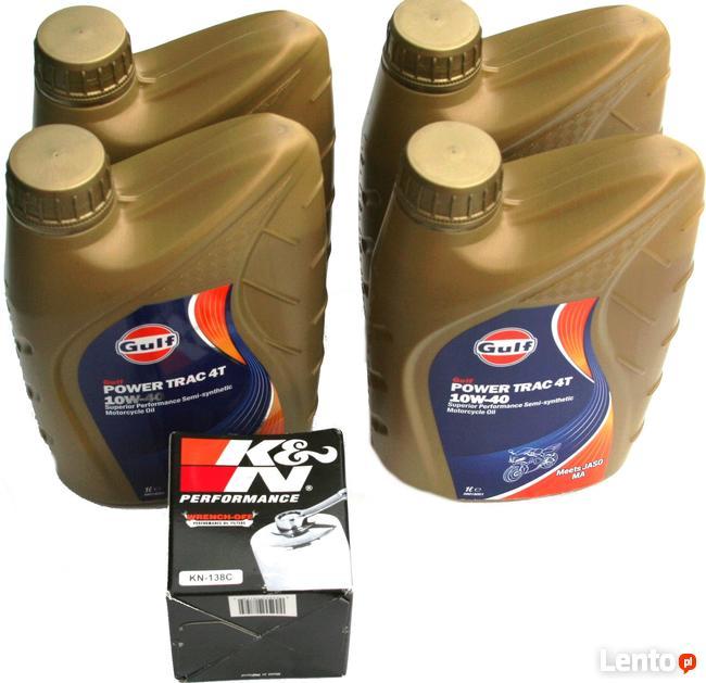 Zestaw Filtr KN-138C Olej 4 Litry Gulf 10W-40