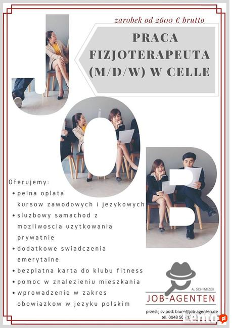 Oferta pracy i pomoc w szukaniu mieszkania- Fizjoterapeuta