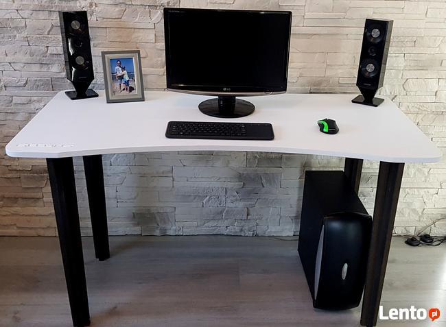 Biurko komputerowe do biura dwukolorowe Detalion Gliwice