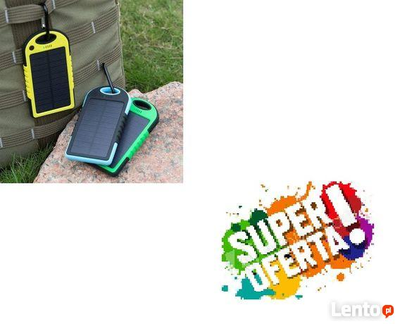 Wodoodporny power bank solarny 5000mAh 2 x USB NOWY !