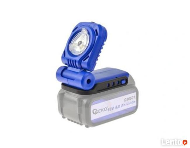 Latarka warsztatowa akumulatorowa 18V, 3W, LED, 300lux