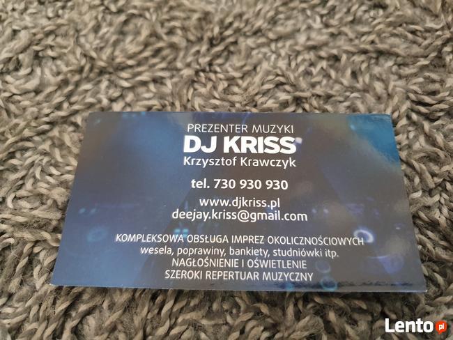 Prezenter muzyczny DJ Kriss----Krzysztof Krawczyk